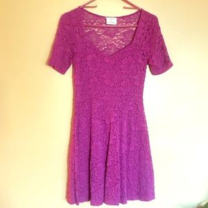 Urban Outfitters Sexy Magenta Party Dress SM